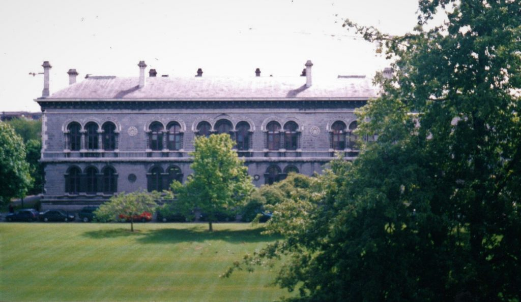 View of the Museum Building in Trinity College Dublin from across New Square